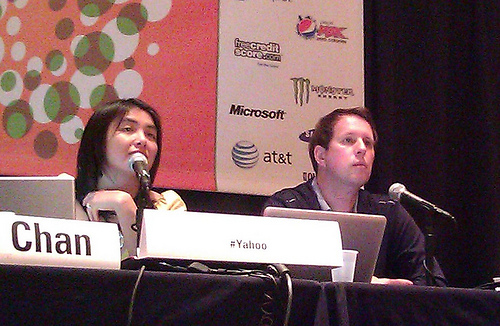 Vera Chan and Brian Theodore presenting during SXSW