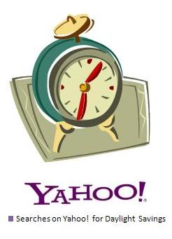 Daylight Savings Time searches on Yahoo! Clues