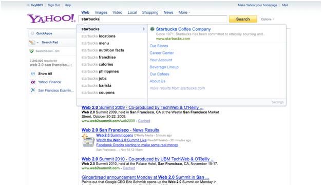 Yahoo! Rich Assist beta example 3