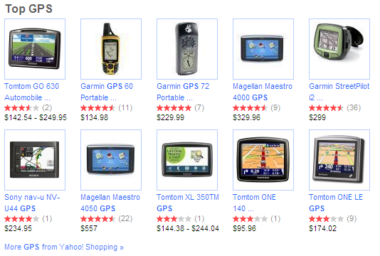 Yahoo! Shopping DD Top GPS