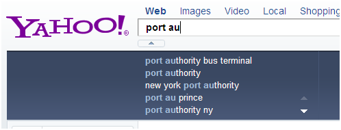 geosensitive suggestion port au