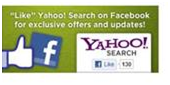 yahoo facebook page like button