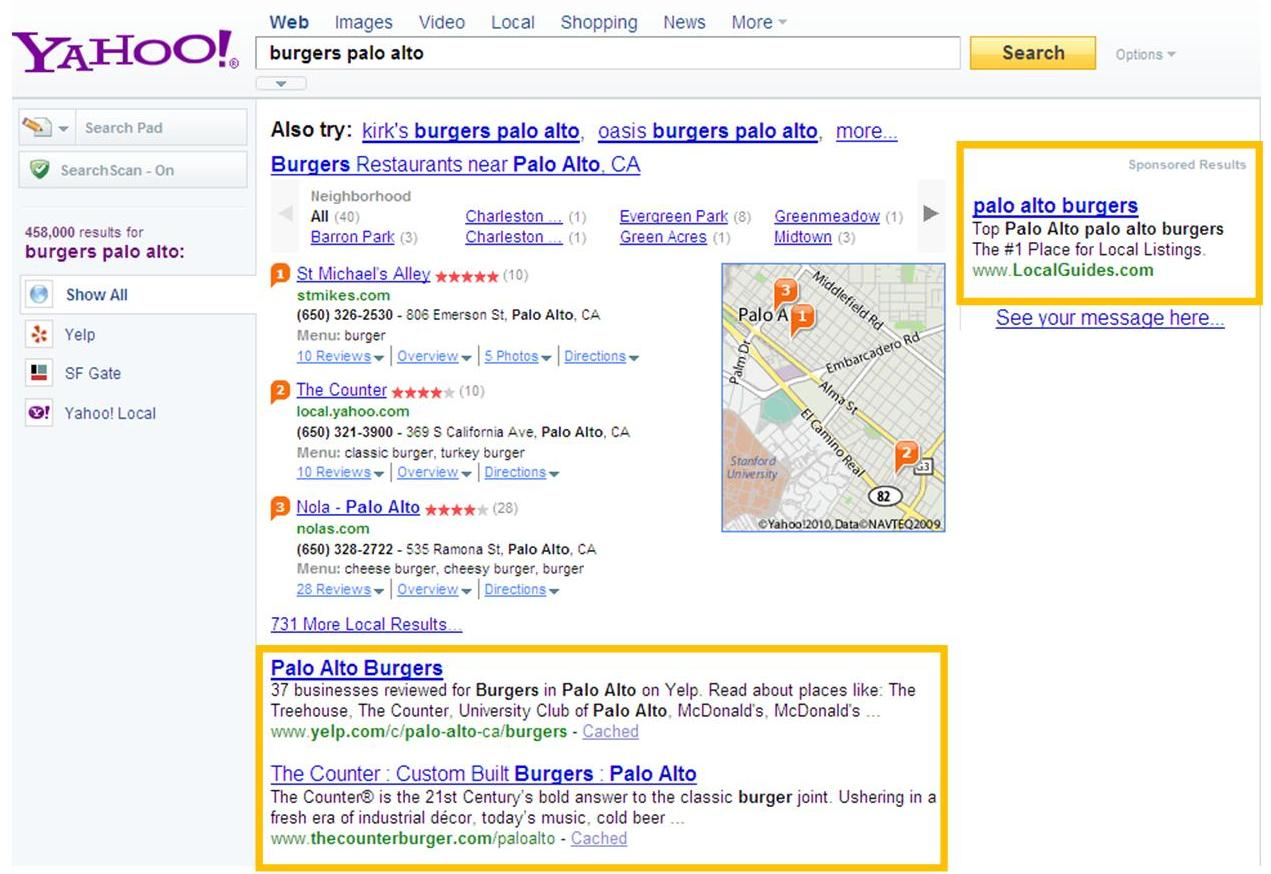 Yahoo Search Results partially powered by Microsoft (Bing)